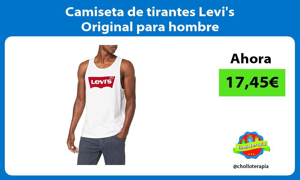 Camiseta de tirantes Levis Original para hombre