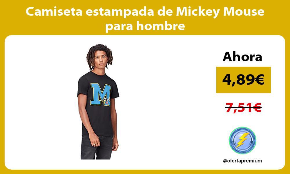Camiseta estampada de Mickey Mouse para hombre