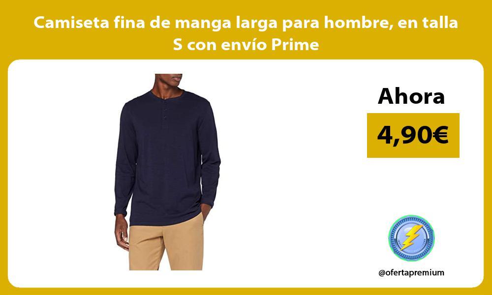 Camiseta fina de manga larga para hombre en talla S con envío Prime