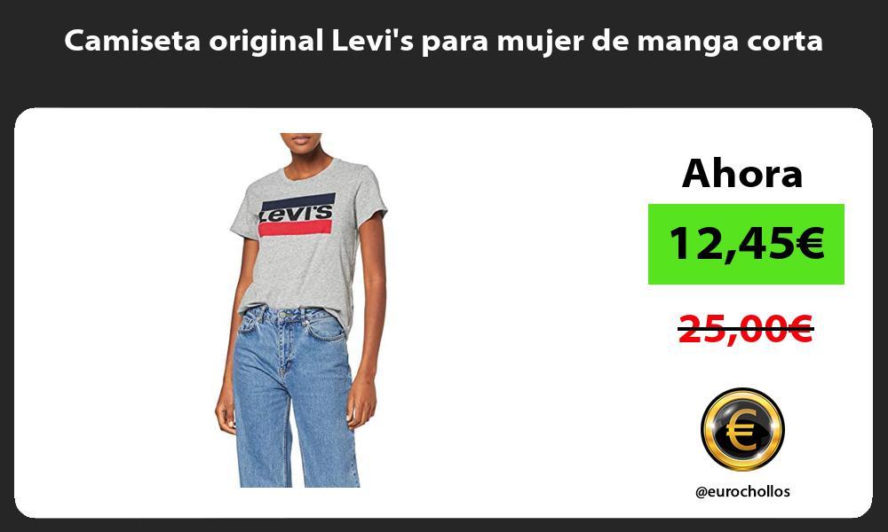 Camiseta original Levis para mujer de manga corta
