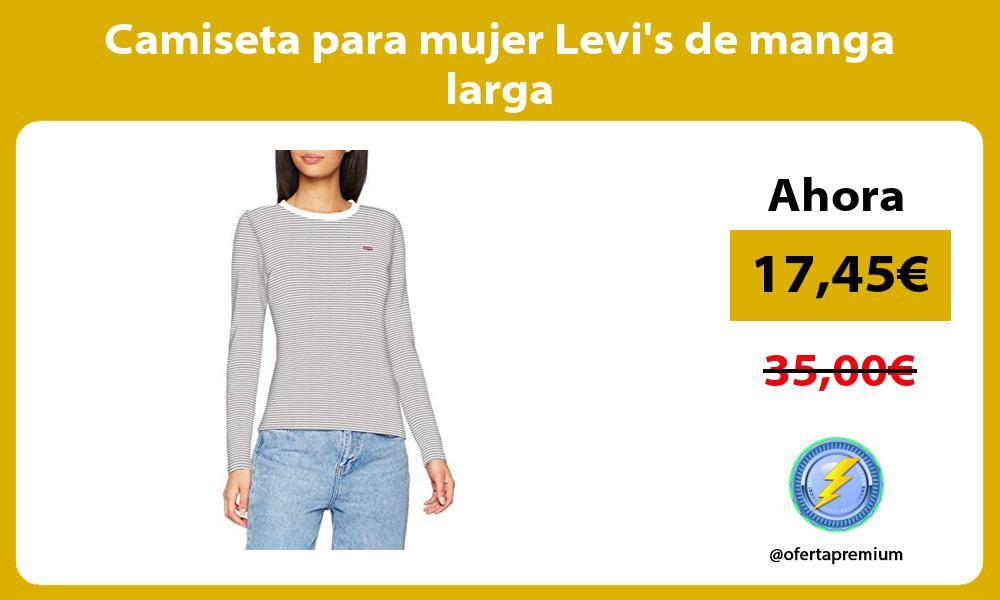 Camiseta para mujer Levis de manga larga
