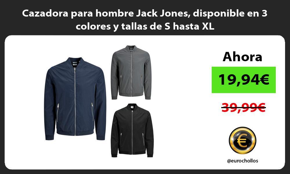 Cazadora para hombre Jack Jones disponible en 3 colores y tallas de S hasta XL
