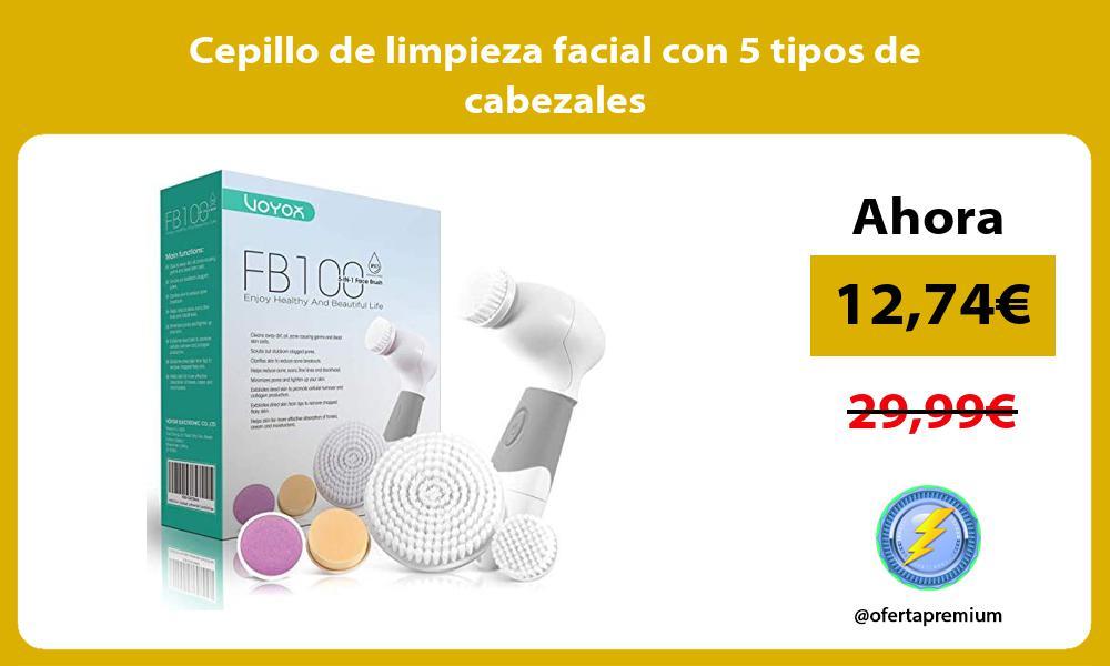 Cepillo de limpieza facial con 5 tipos de cabezales