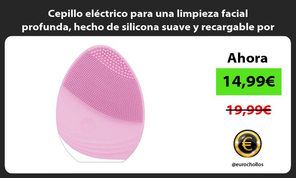 Cepillo eléctrico para una limpieza facial profunda hecho de silicona suave y recargable por USB