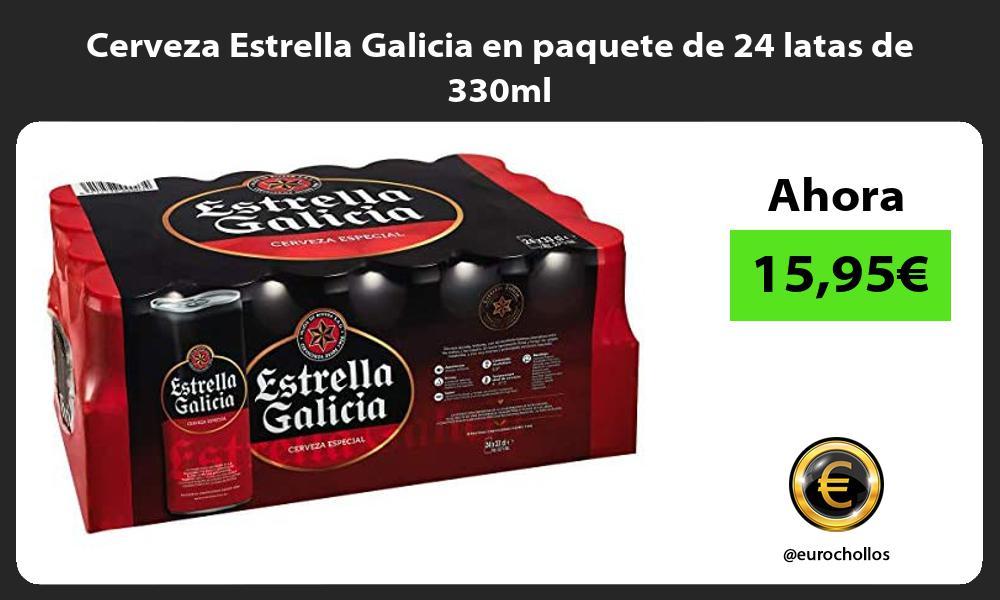Cerveza Estrella Galicia en paquete de 24 latas de 330ml