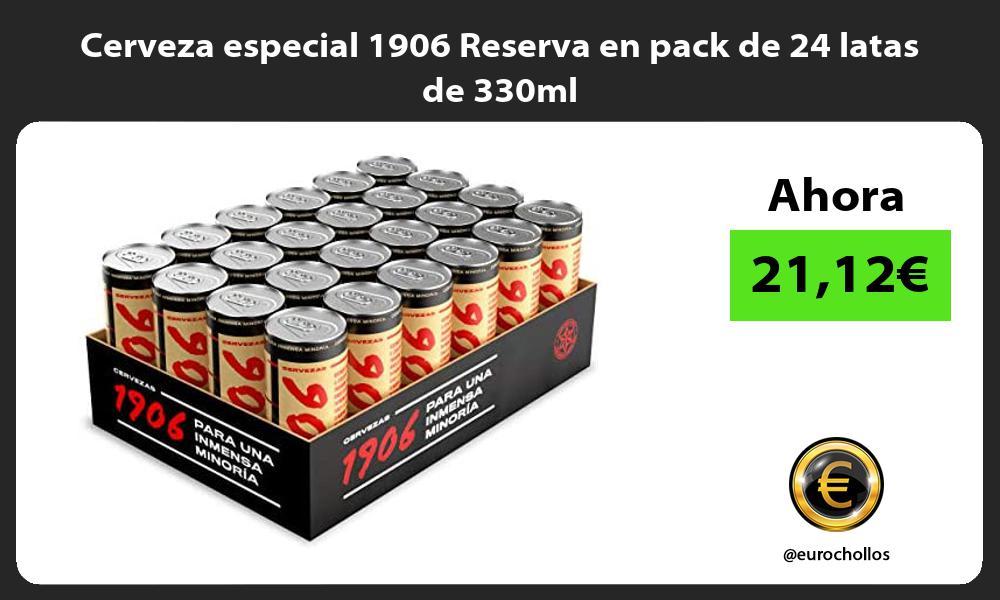 Cerveza especial 1906 Reserva en pack de 24 latas de 330ml