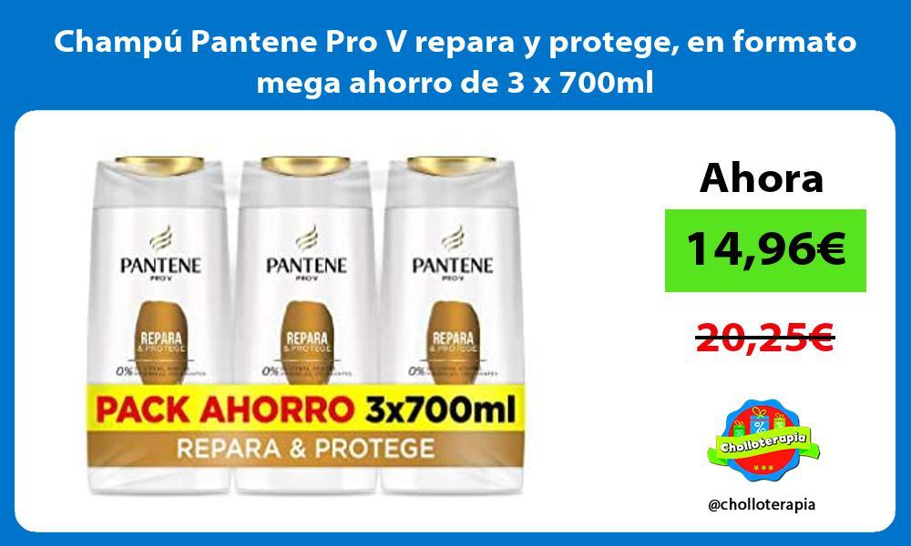 Champú Pantene Pro V repara y protege en formato mega ahorro de 3 x 700ml