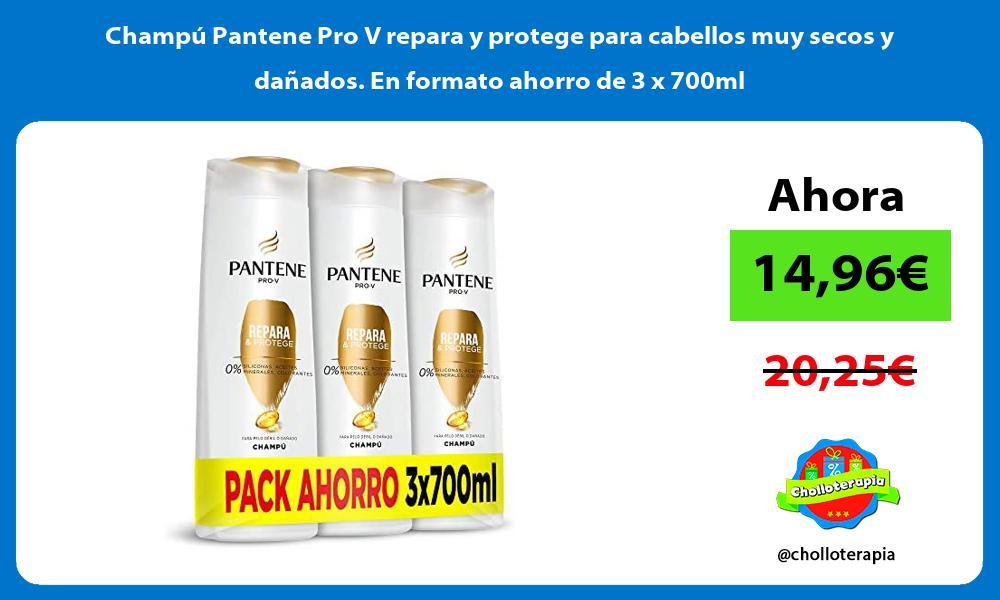 Champú Pantene Pro V repara y protege para cabellos muy secos y dañados En formato ahorro de 3 x 700ml