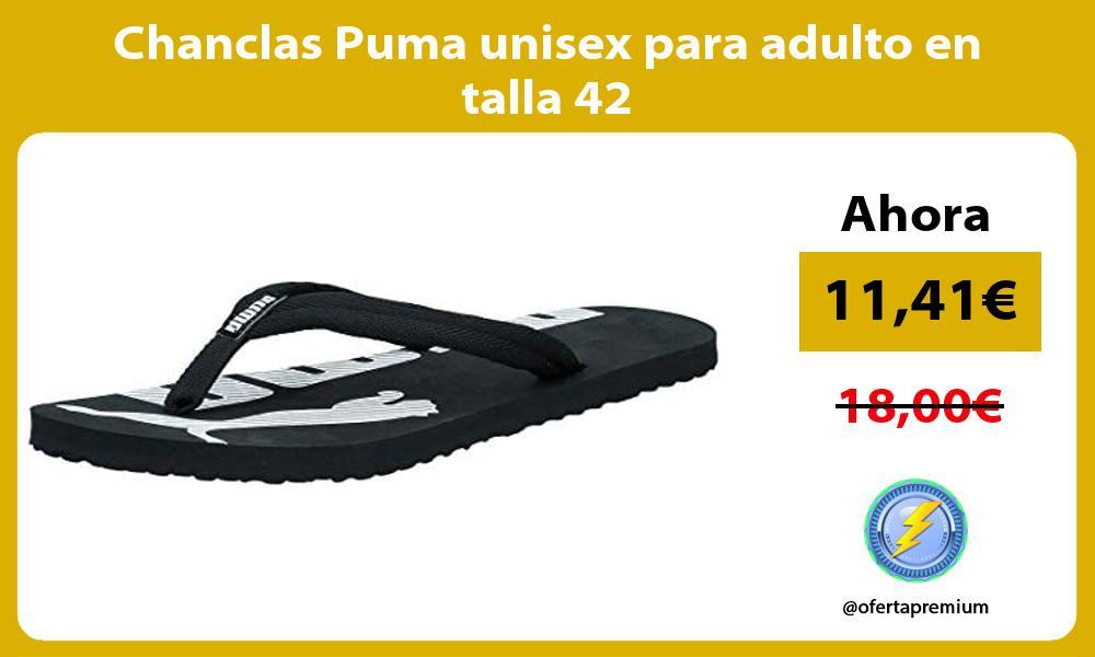 Chanclas Puma unisex para adulto en talla 42
