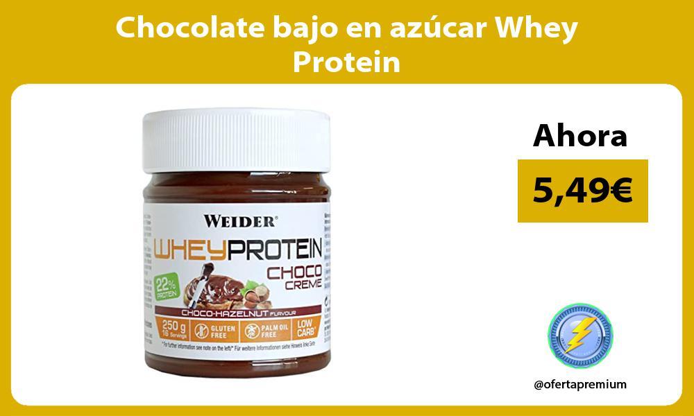 Chocolate bajo en azúcar Whey Protein