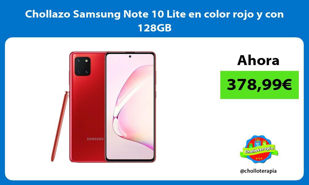 Chollazo Samsung Note 10 Lite en color rojo y con 128GB