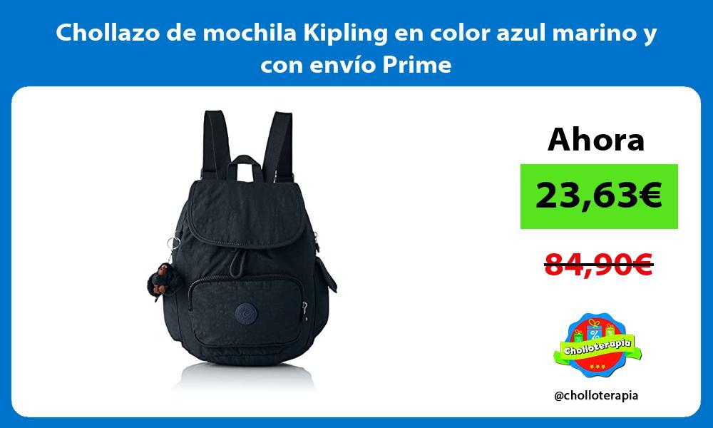 Chollazo de mochila Kipling en color azul marino y con envío Prime