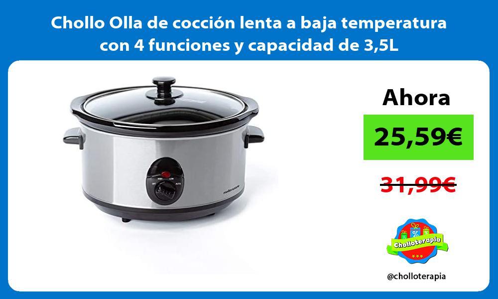 Chollo Olla de cocción lenta a baja temperatura con 4 funciones y capacidad de 35L
