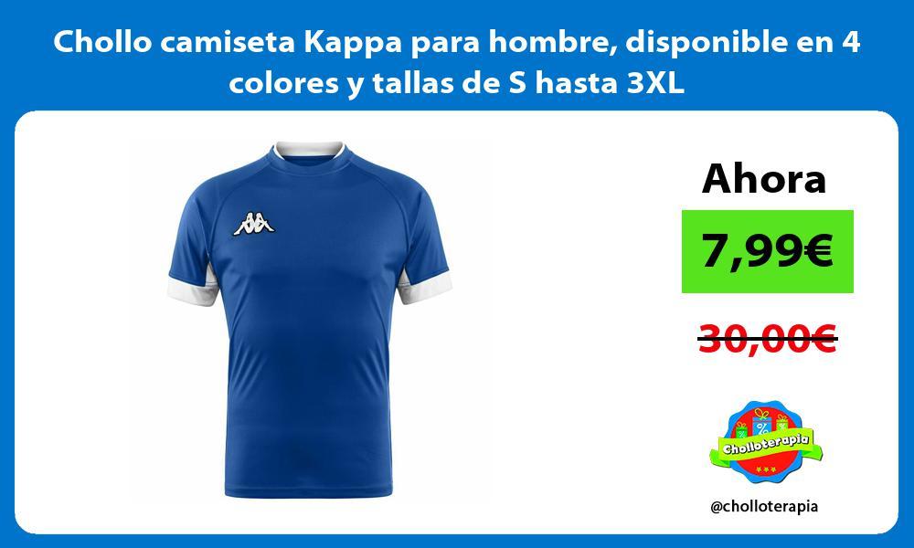 Chollo camiseta Kappa para hombre disponible en 4 colores y tallas de S hasta 3XL