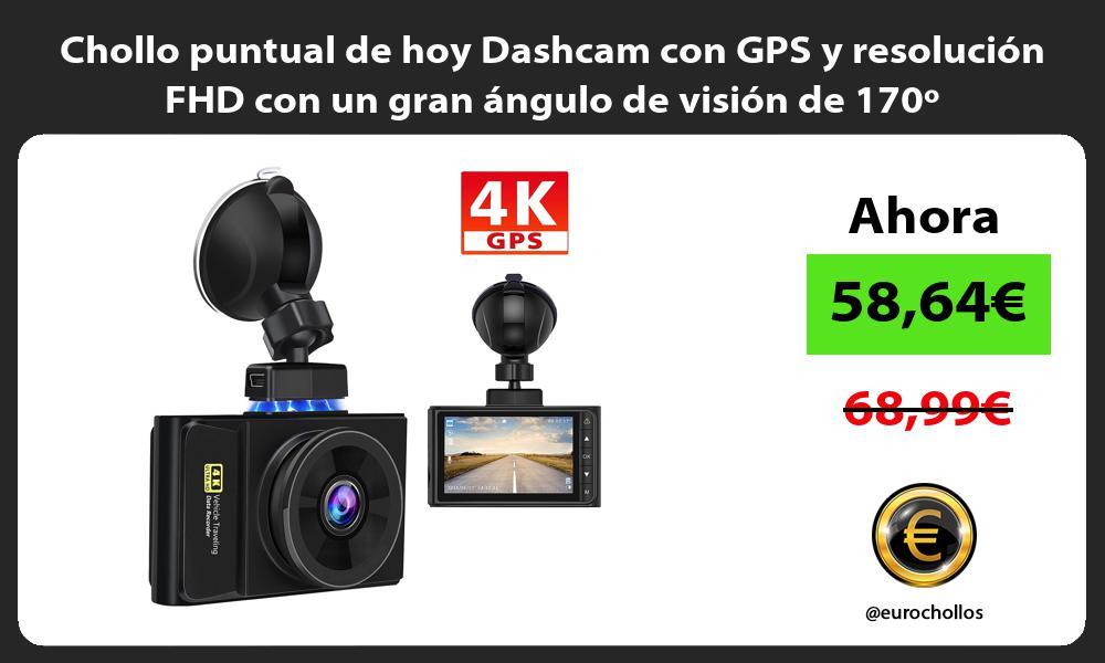 Chollo puntual de hoy Dashcam con GPS y resolución FHD con un gran ángulo de visión de 170º