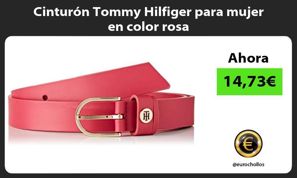 Cinturón Tommy Hilfiger para mujer en color rosa