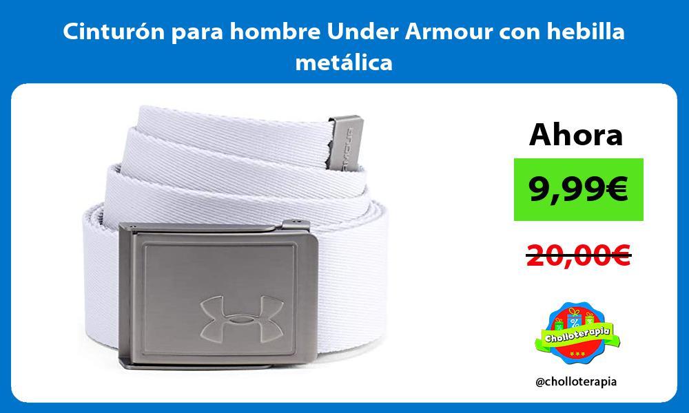Cinturón para hombre Under Armour con hebilla metálica