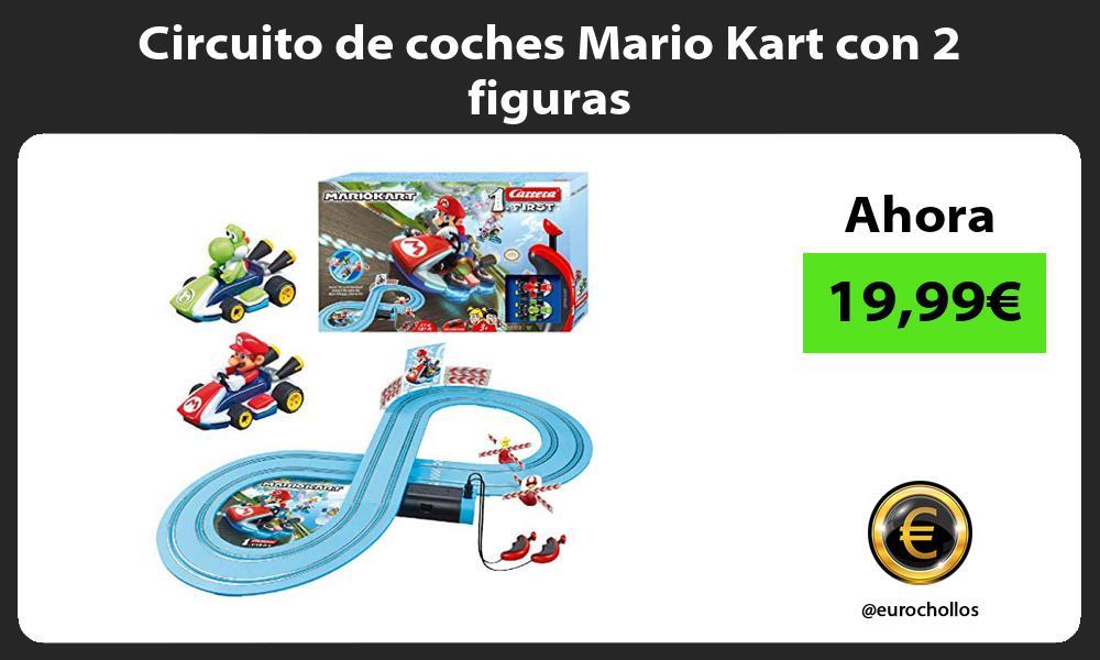 Circuito de coches Mario Kart con 2 figuras