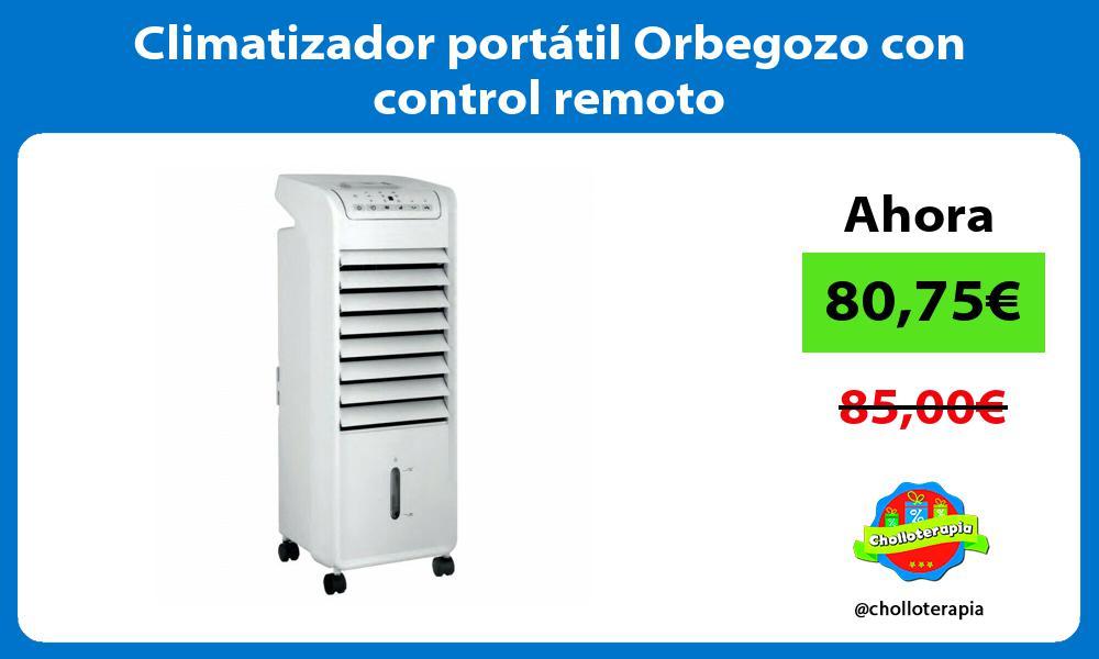 Climatizador portátil Orbegozo con control remoto