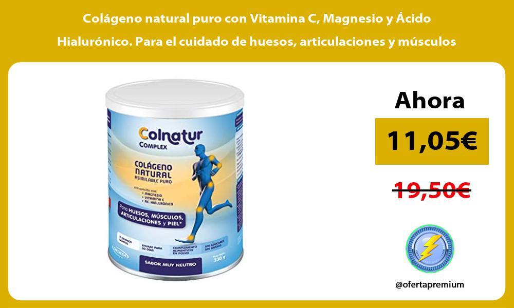 Colágeno natural puro con Vitamina C Magnesio y Ácido Hialurónico Para el cuidado de huesos articulaciones y músculos