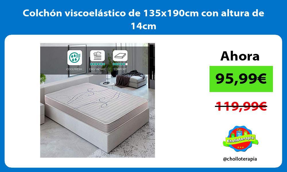 Colchón viscoelástico de 135x190cm con altura de 14cm
