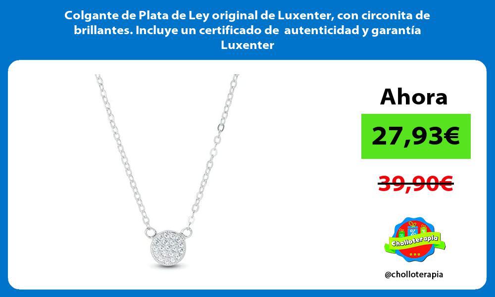 Colgante de Plata de Ley original de Luxenter con circonita de brillantes Incluye un certificado de autenticidad y garantía Luxenter