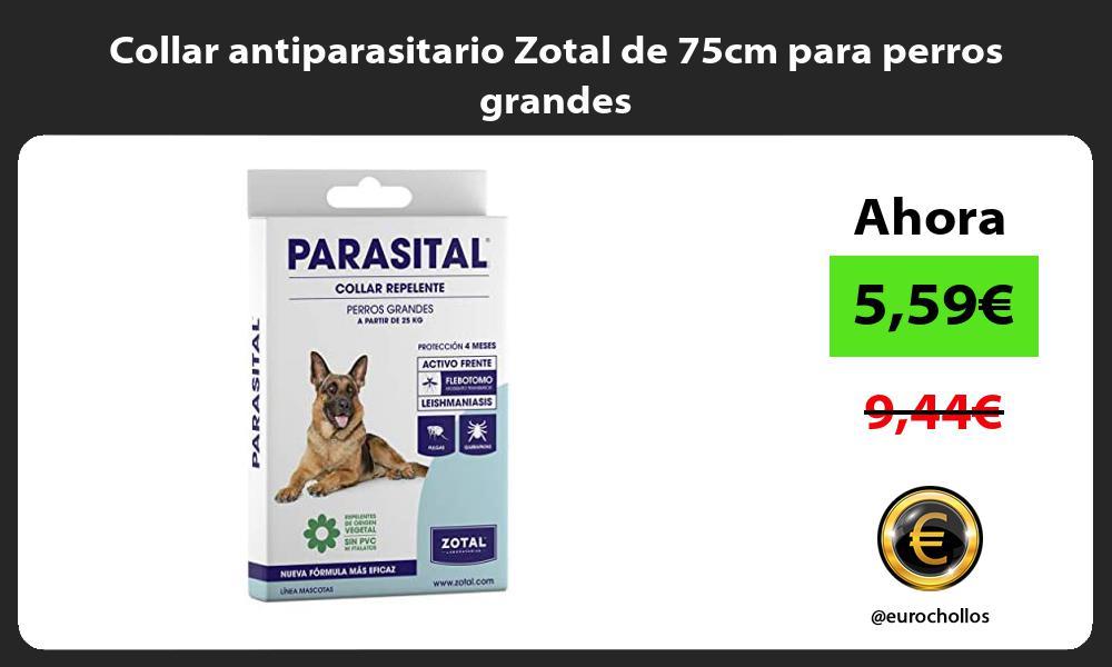 Collar antiparasitario Zotal de 75cm para perros grandes