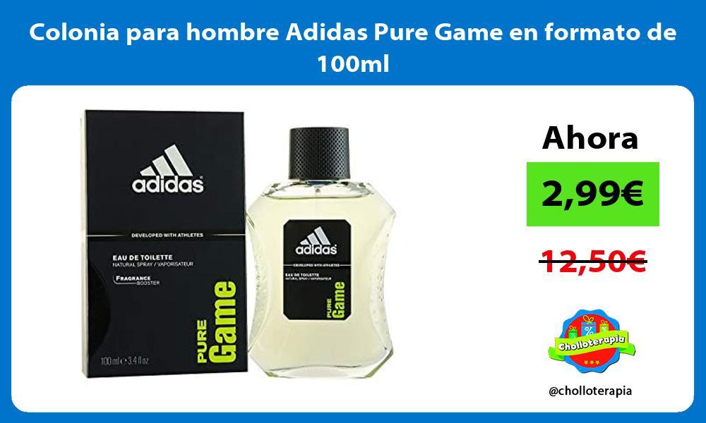 Colonia para hombre Adidas Pure Game en formato de 100ml