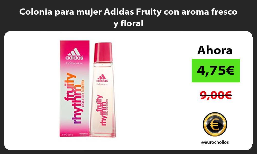 Colonia para mujer Adidas Fruity con aroma fresco y floral