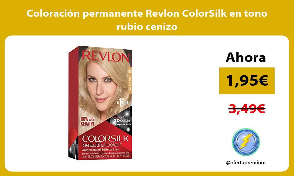 Coloración permanente Revlon ColorSilk en tono rubio cenizo