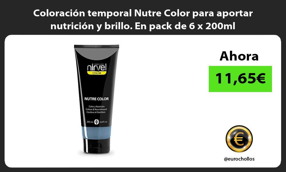 Coloración temporal Nutre Color para aportar nutrición y brillo En pack de 6 x 200ml
