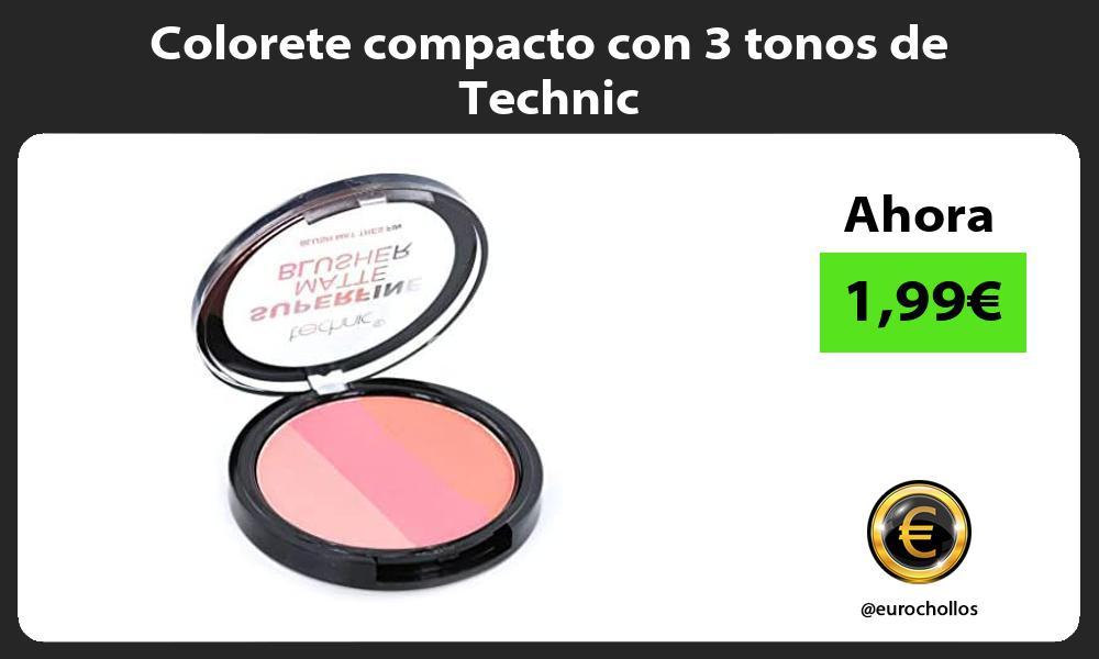 Colorete compacto con 3 tonos de Technic