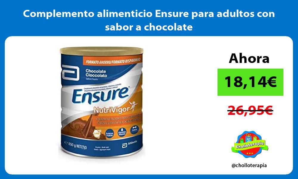 Complemento alimenticio Ensure para adultos con sabor a chocolate