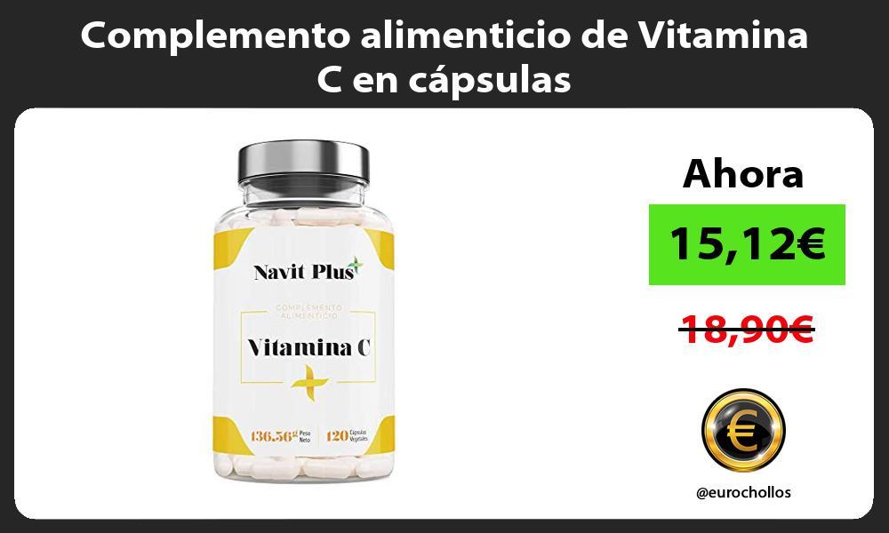 Complemento alimenticio de Vitamina C en cápsulas