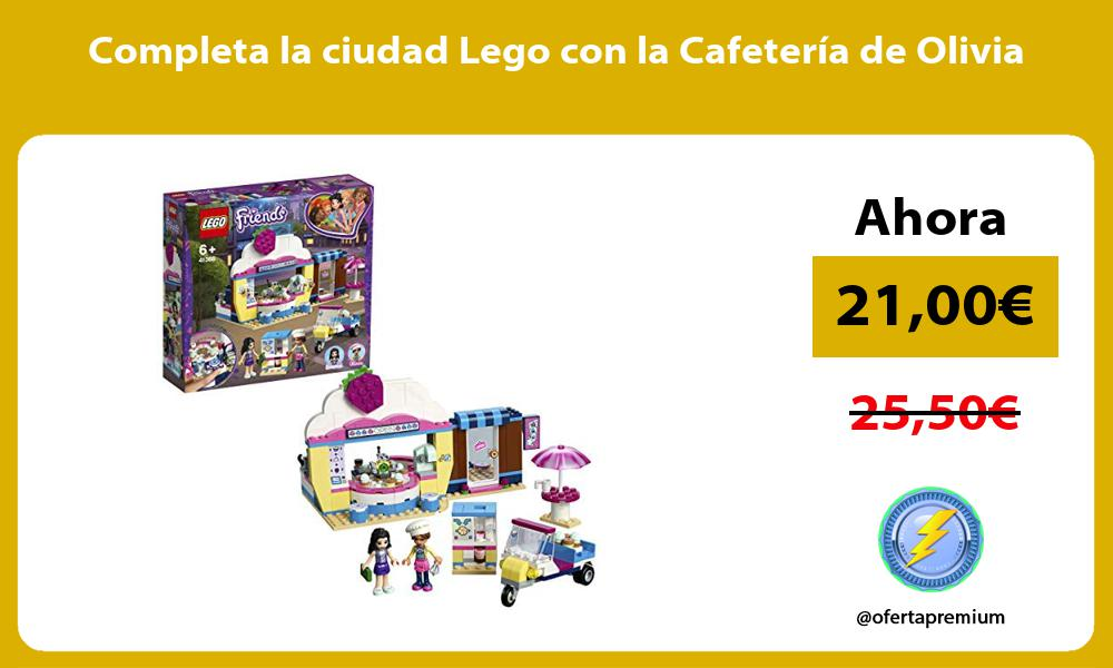 Completa la ciudad Lego con la Cafetería de Olivia