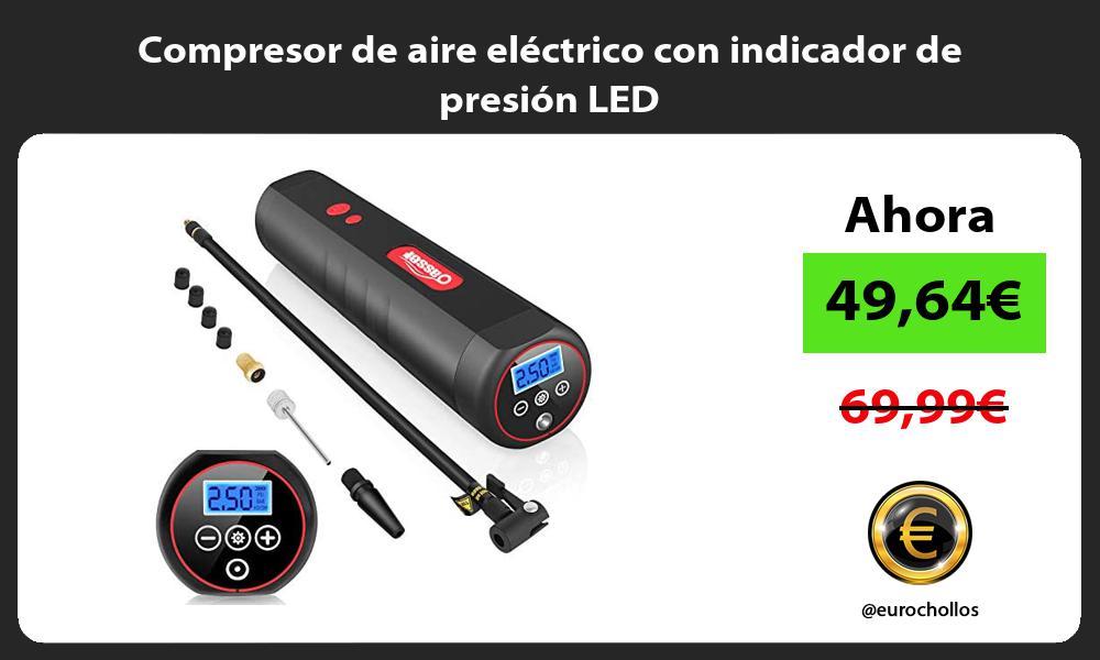 Compresor de aire eléctrico con indicador de presión LED