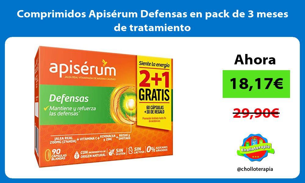 Comprimidos Apisérum Defensas en pack de 3 meses de tratamiento