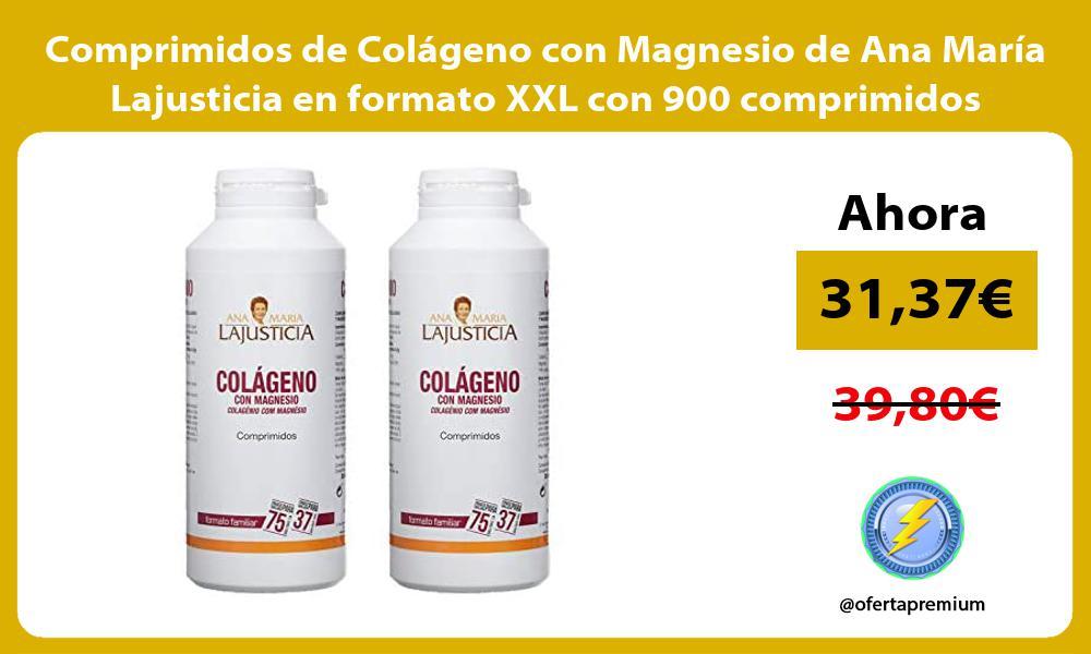 Comprimidos de Colágeno con Magnesio de Ana María Lajusticia en formato XXL con 900 comprimidos