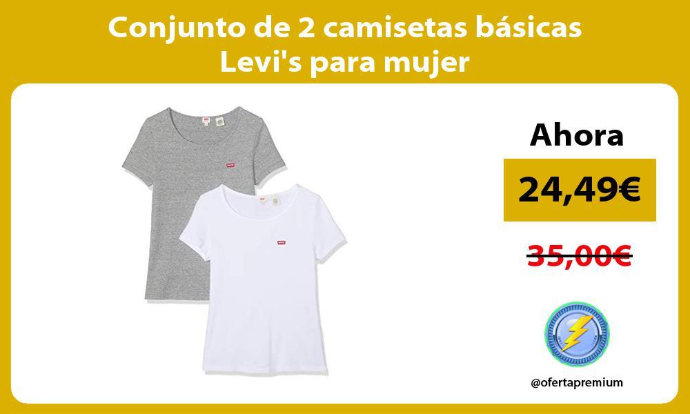 Conjunto de 2 camisetas básicas Levis para mujer