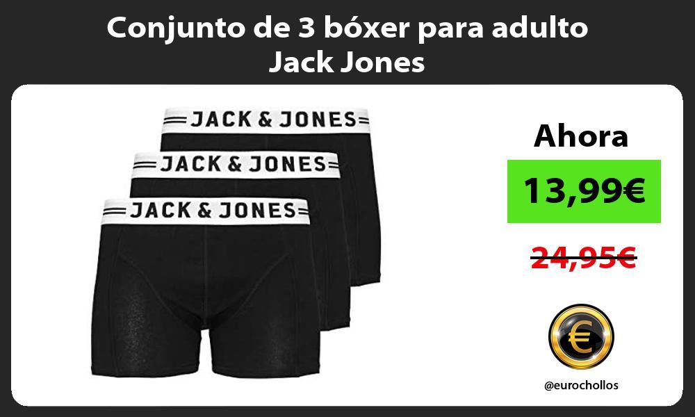 Conjunto de 3 bóxer para adulto Jack Jones