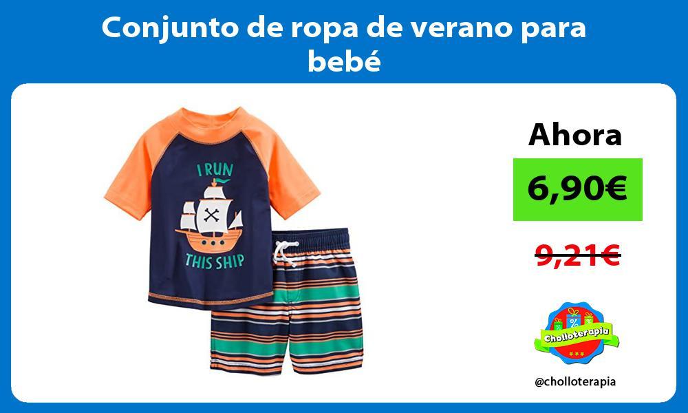 Conjunto de ropa de verano para bebé