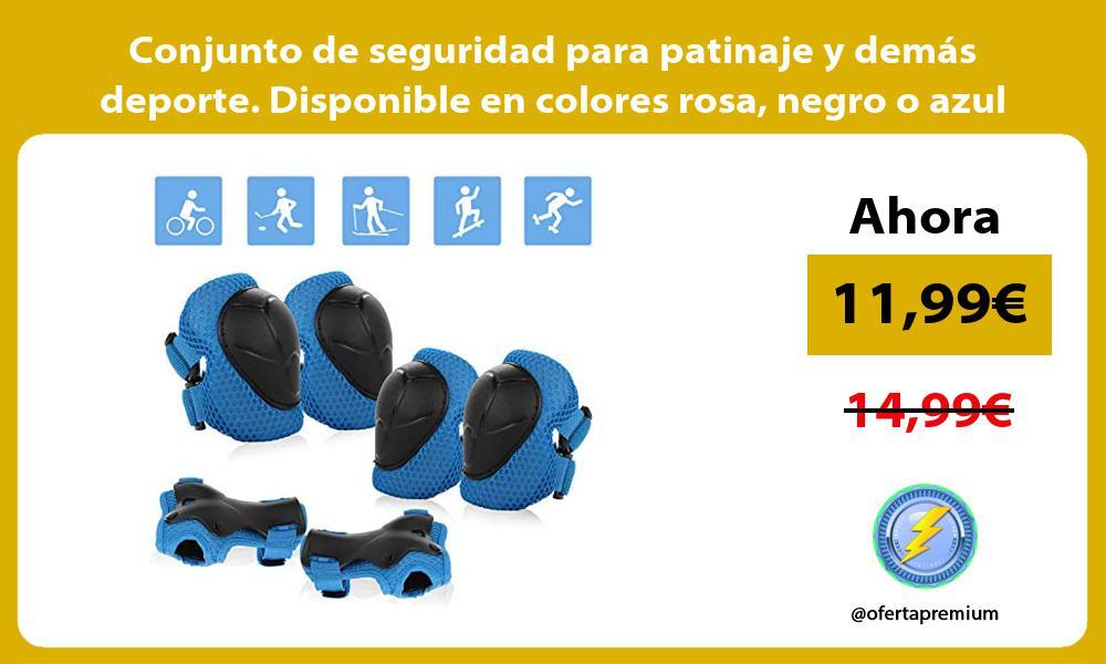 Conjunto de seguridad para patinaje y demás deporte Disponible en colores rosa negro o azul