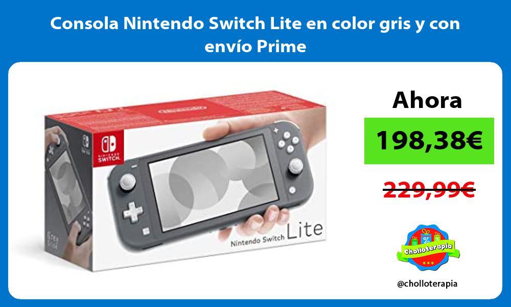 Consola Nintendo Switch Lite en color gris y con envío Prime