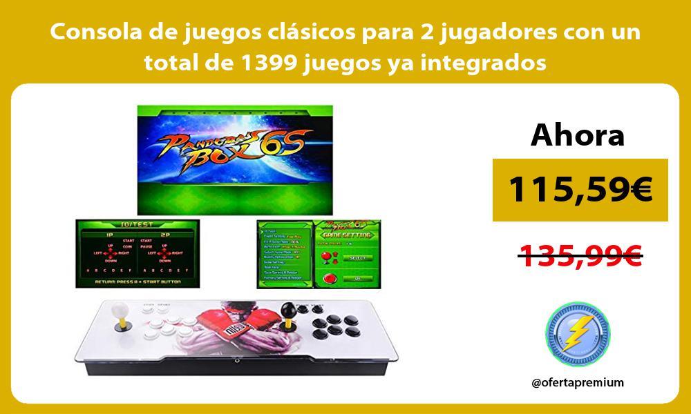 Consola de juegos clásicos para 2 jugadores con un total de 1399 juegos ya integrados