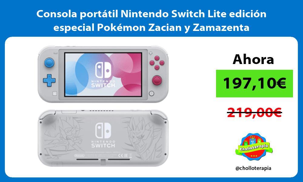 Consola portátil Nintendo Switch Lite edición especial Pokémon Zacian y Zamazenta
