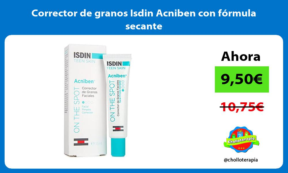 Corrector de granos Isdin Acniben con fórmula secante