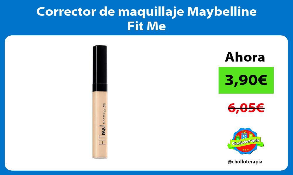 Corrector de maquillaje Maybelline Fit Me