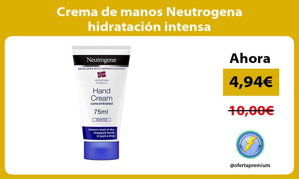 Crema de manos Neutrogena hidratación intensa