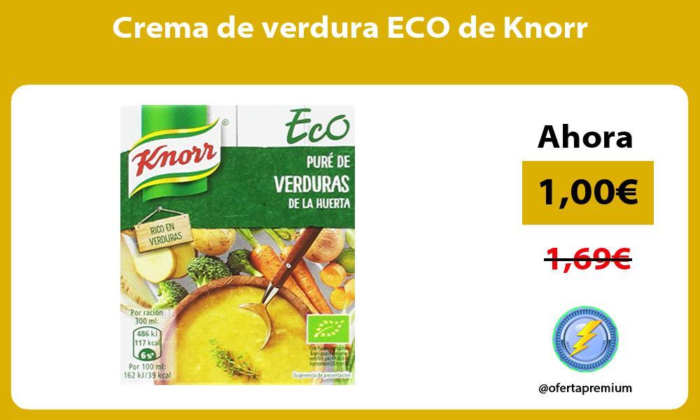 Crema de verdura ECO de Knorr