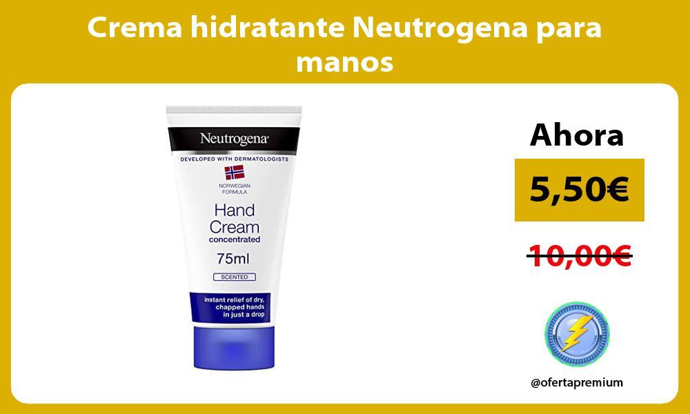 Crema hidratante Neutrogena para manos